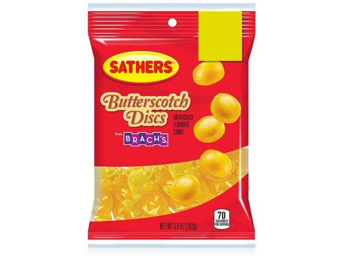 Sathers Butterscotch Discs 102g