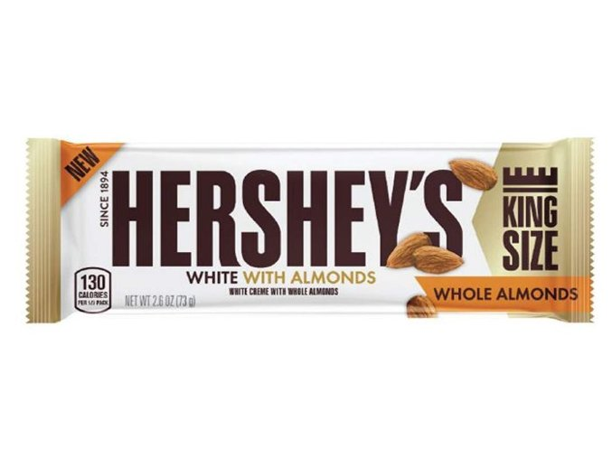 Hershey's White Creme With Whole Almonds King Size 73g