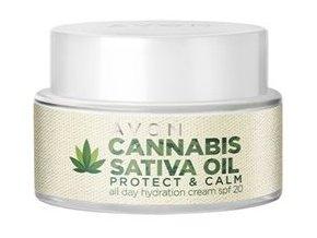 Avon Cannabis Sativa Oil Hydratační denní krém s konopným olejem 50ml