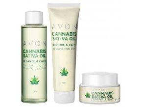 Avon Cannabis Sativa Oil Sada péče s konopným olejem