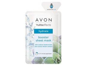Avon Hydratační textilní pleťová maska s kyselinou hyaluronovou a kaktusovým květem