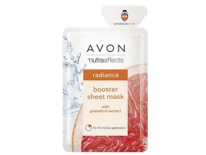 Avon Rozjasňující textilní pleťová maska s výtažkem z grapefruitu