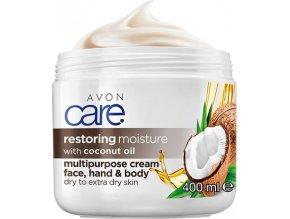 Avon Regenerační hydratační krém na obličej, ruce a tělo s kokosovým olejem 400ml