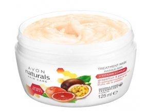 Avon Maska na vlasy s grapefruitem a marakujou pro poškozené a barvené vlasy 125ml
