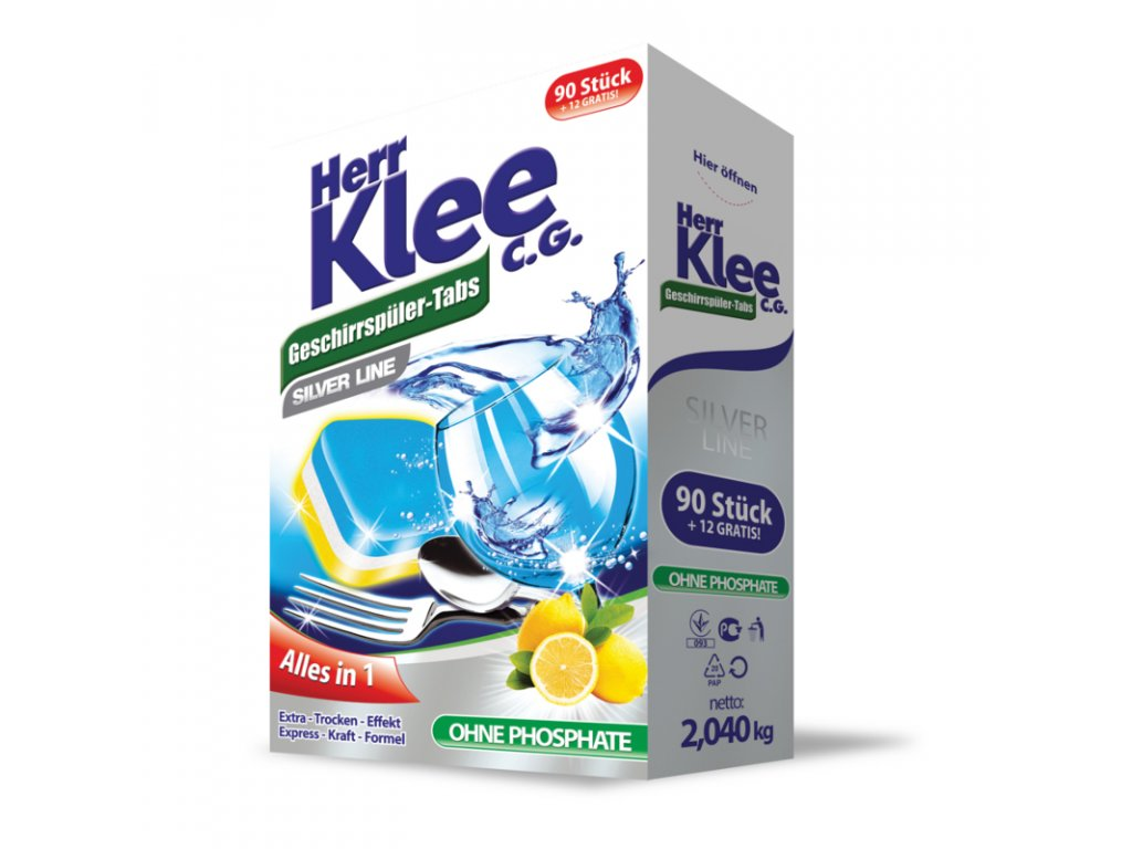 Klee Silver Line All in 1 tablety do myčky nádobí 102 ks