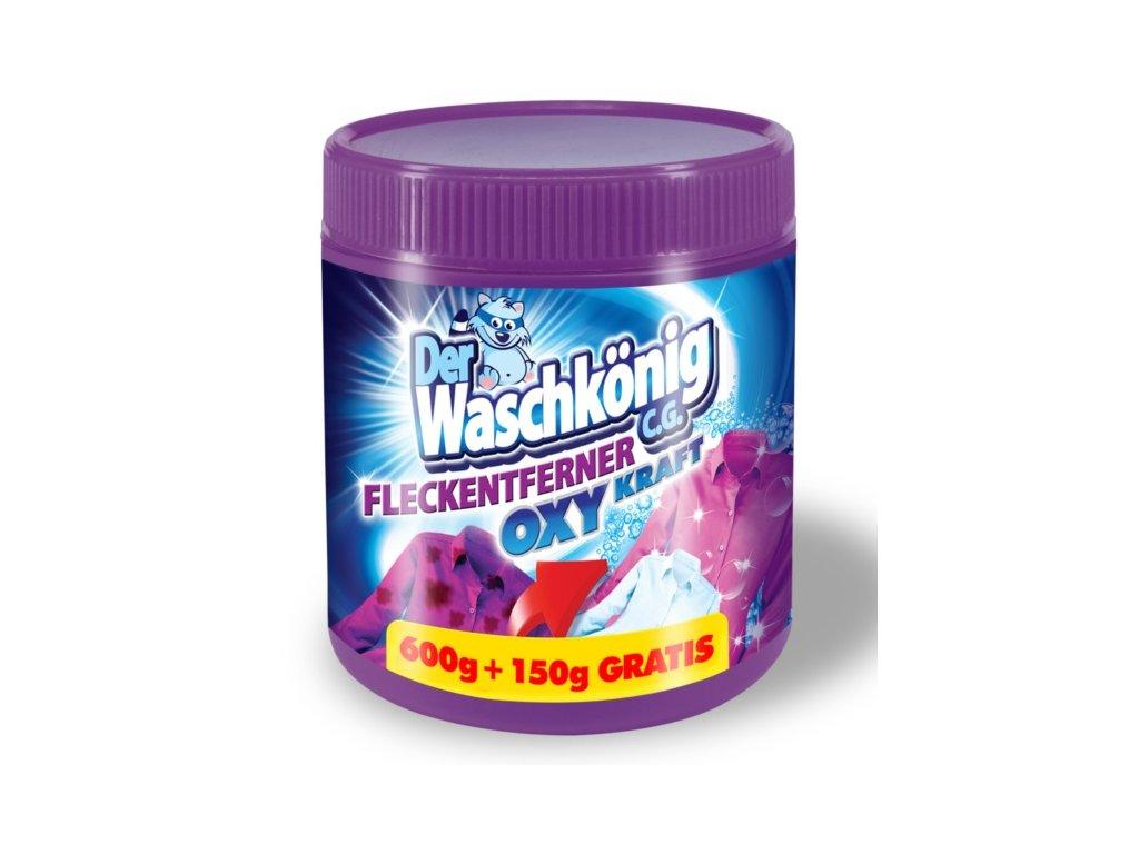 Waschkonig Oxy Kraft efektivní odstranění odolných a zašlých skvrn na barevné a bíle prádlo.
