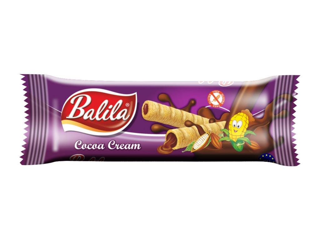 BALILA kukuřičná trub.s krémem s příchutí kakao 18g