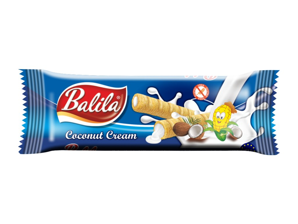 BALILA kukuřičná trub.s krémem s příchutí kokos 18g