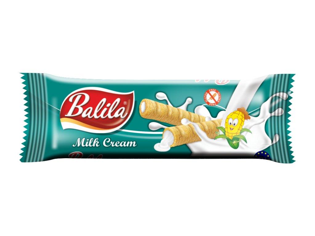 BALILA kukuřičná trub.s krémem s příchutí mléčná 18g