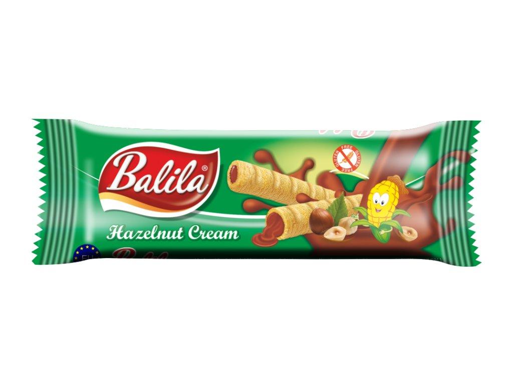 BALILA kukuřičná trub.s krémem s příchutí ořech 18g