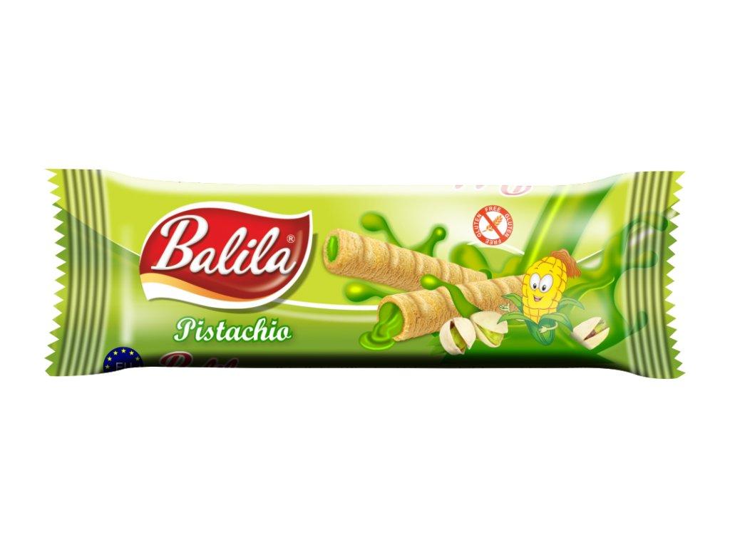 BALILA kukuřičná trub.s krémem s příchutí pistácie 18g