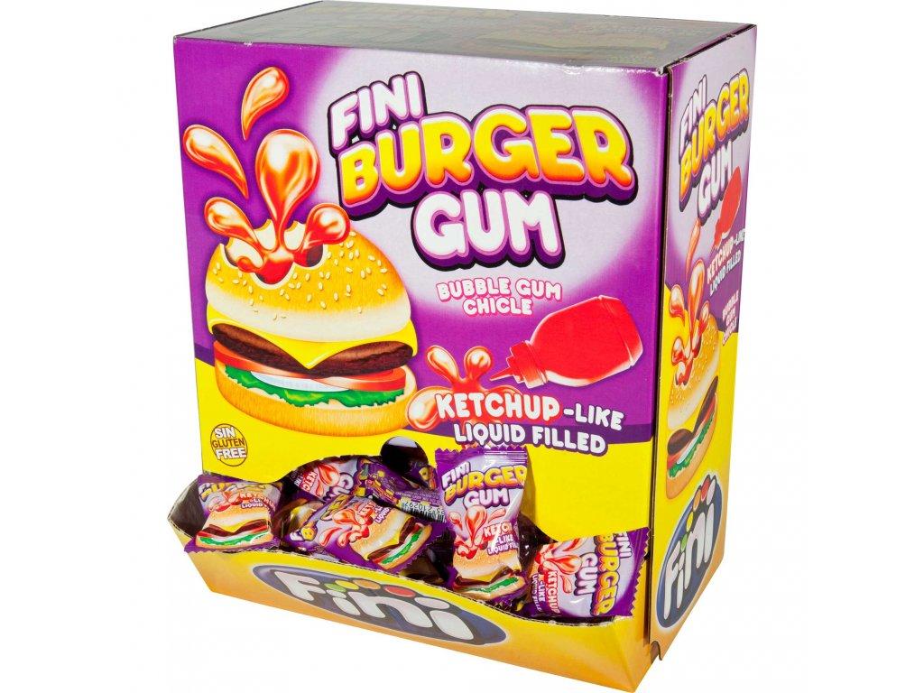 FINI Žvýkačky Burger 5 g BOX 200 žvýkaček