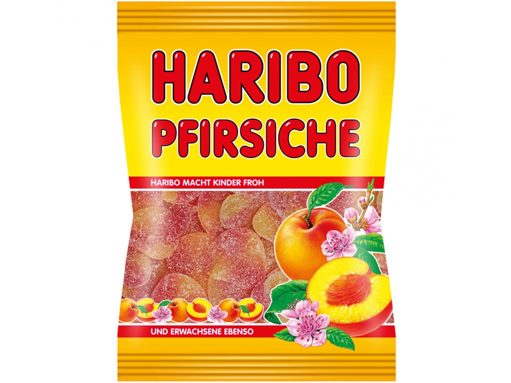 Haribo Pfirsiche želé s příchutí broskve 100g