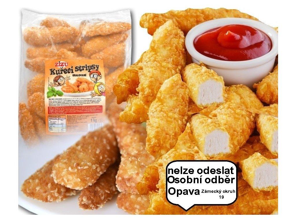 Kuřecí stripsy obalované Zizu  1 kg