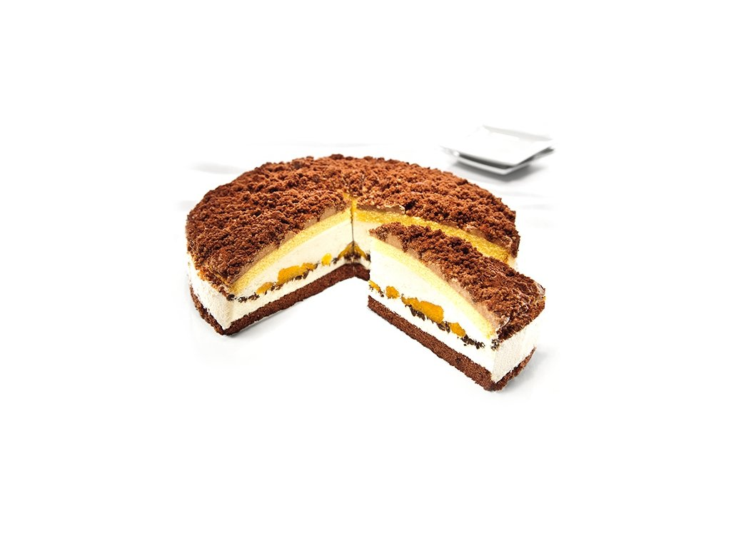 Smetanový dort s mandarinkami a čokoládou  2000 g