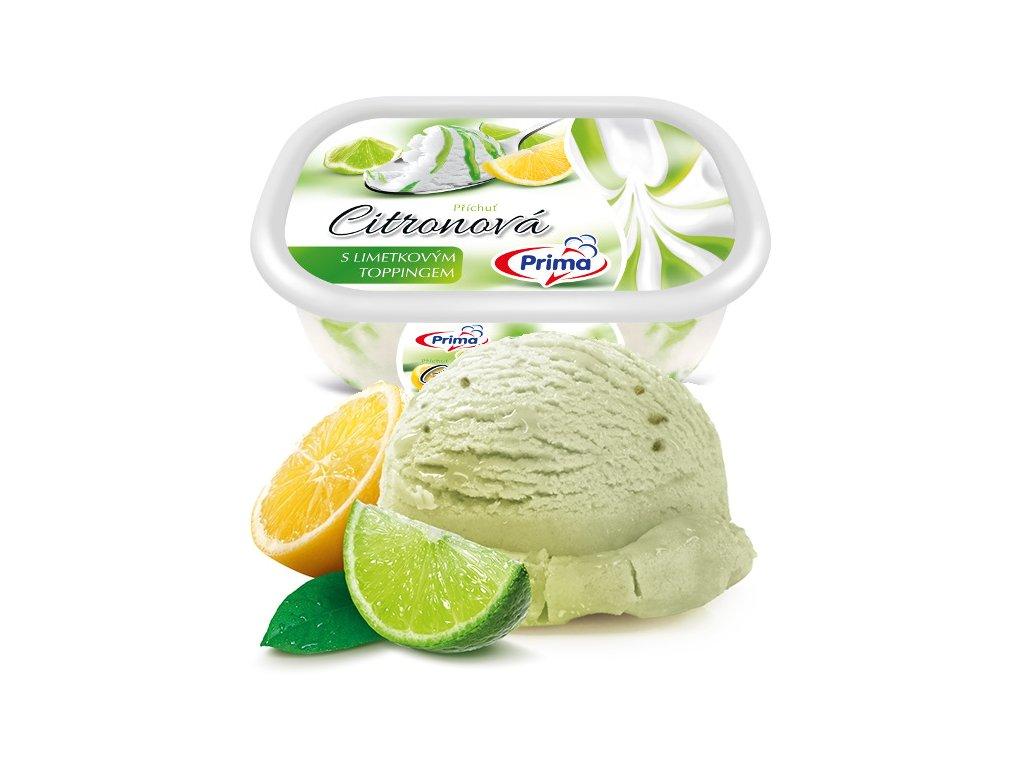 Citronová zmrzlina s limetovým toppingem 900 ml