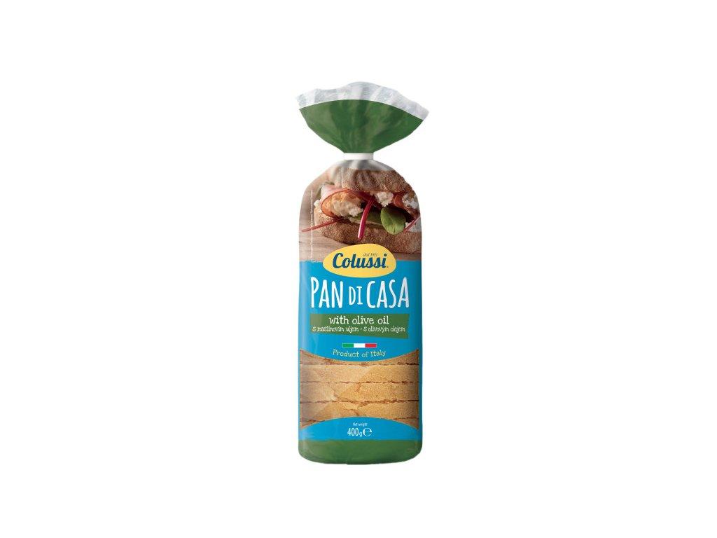 Chléb toustový pšeničný semolinový s olivovým olejem 400 g