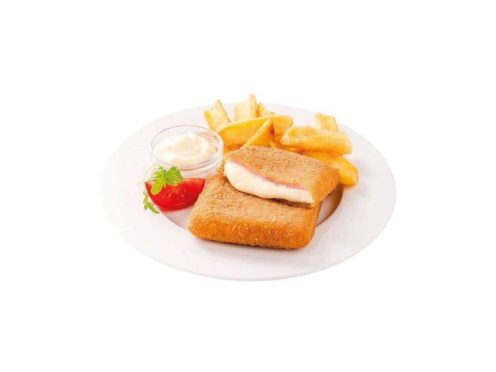 Obalovaný sýr se šunkou 115 g předsmažený cena za kilogram.
