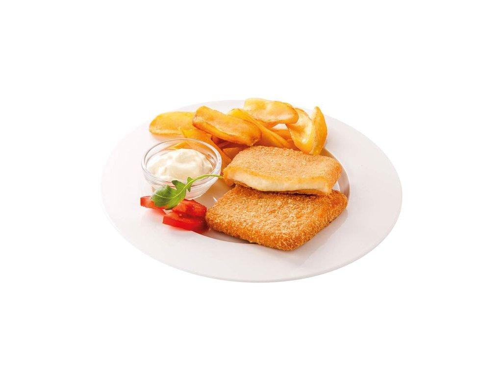 Obalovaný sýr čtverec 80 g předsmažený cena za kilogram.