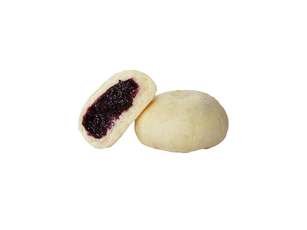 Kynuté borůvkové knedlíky 100 g.Cena za kilogram.