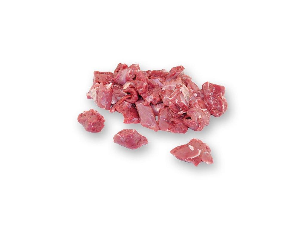 Mufloní maso na guláš  cena za balení 5 Kg.