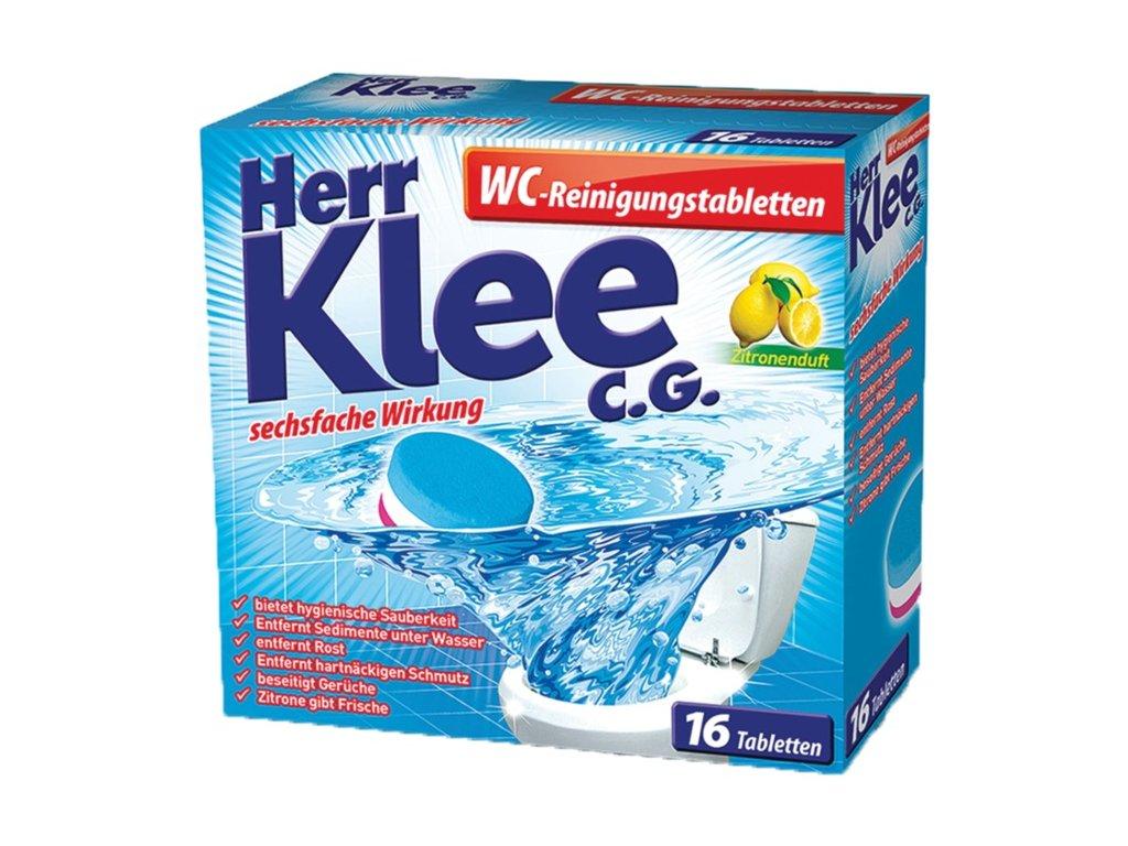 Klee WC Reinigungstabletten čistící tablety toalet s vůní citronu 16 ks