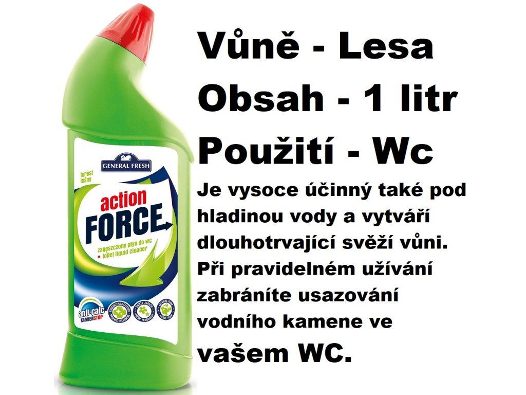 FORCE ČISTÍCÍ GEL NA WC - LESNÍ VŮNĚ 1 L