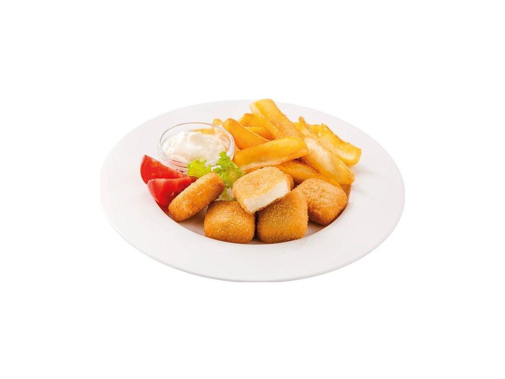 Obalovaný minisýr fast food 17 g předsmažený. Cena za kilogram