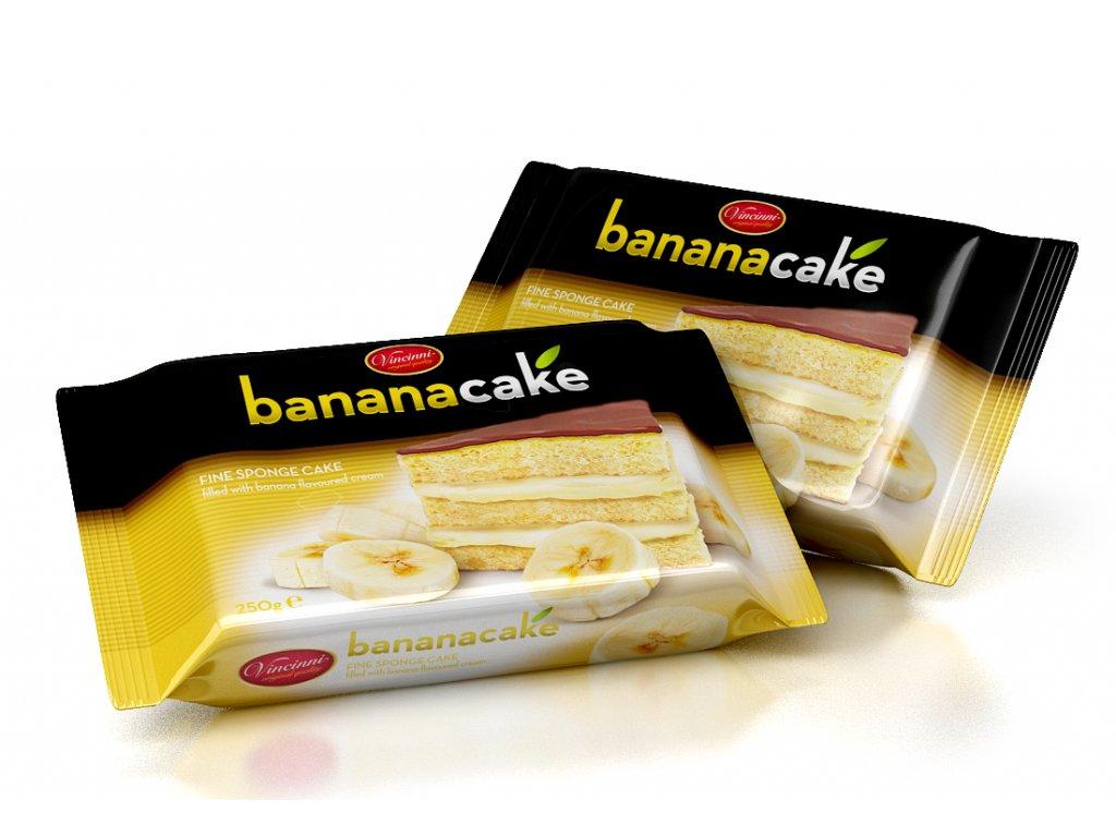 Bananový dort 250 gramů