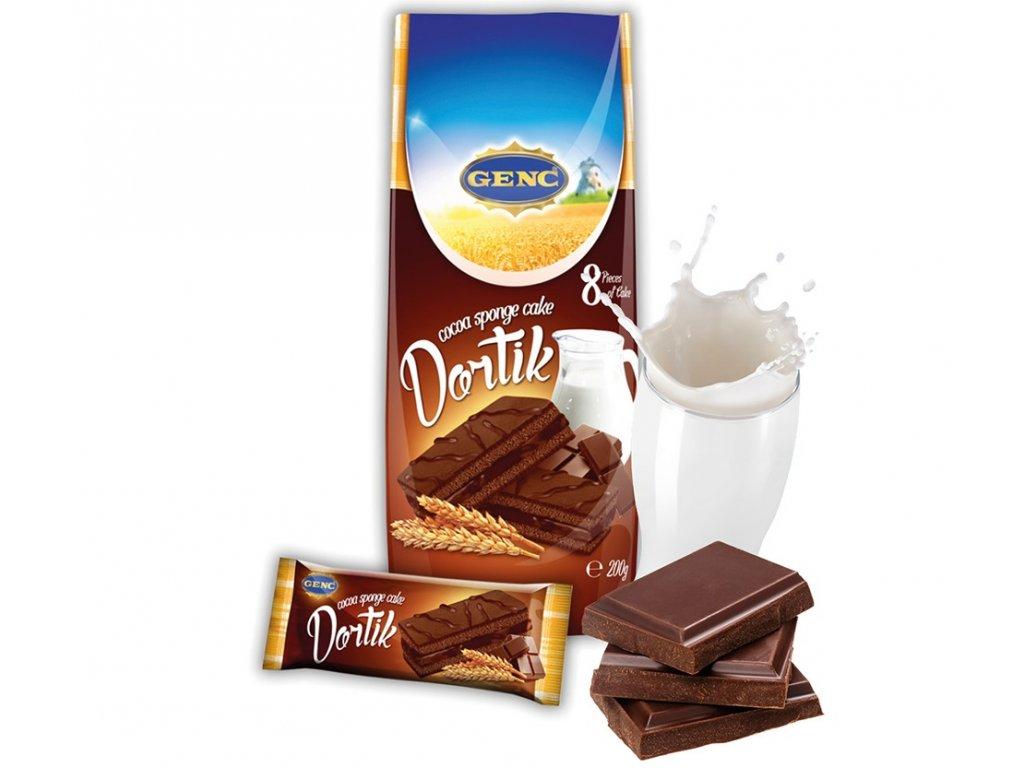 Dortík kakao 8x25 gramů 200 g