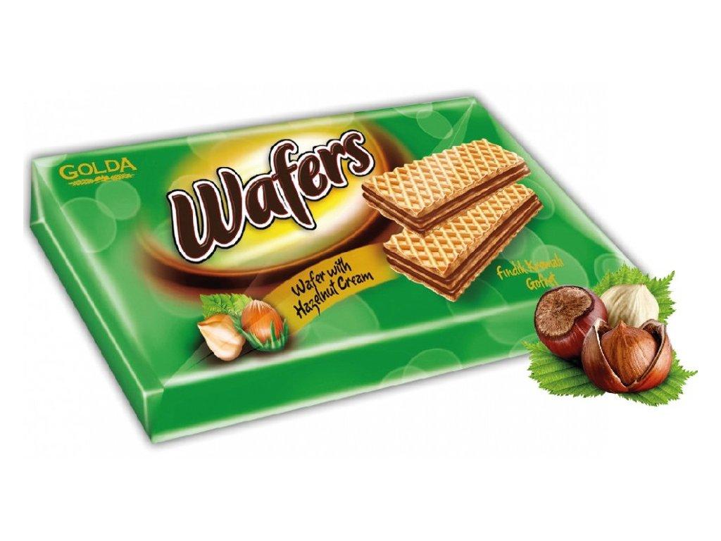 Golda wafers 175 gramů ořechové