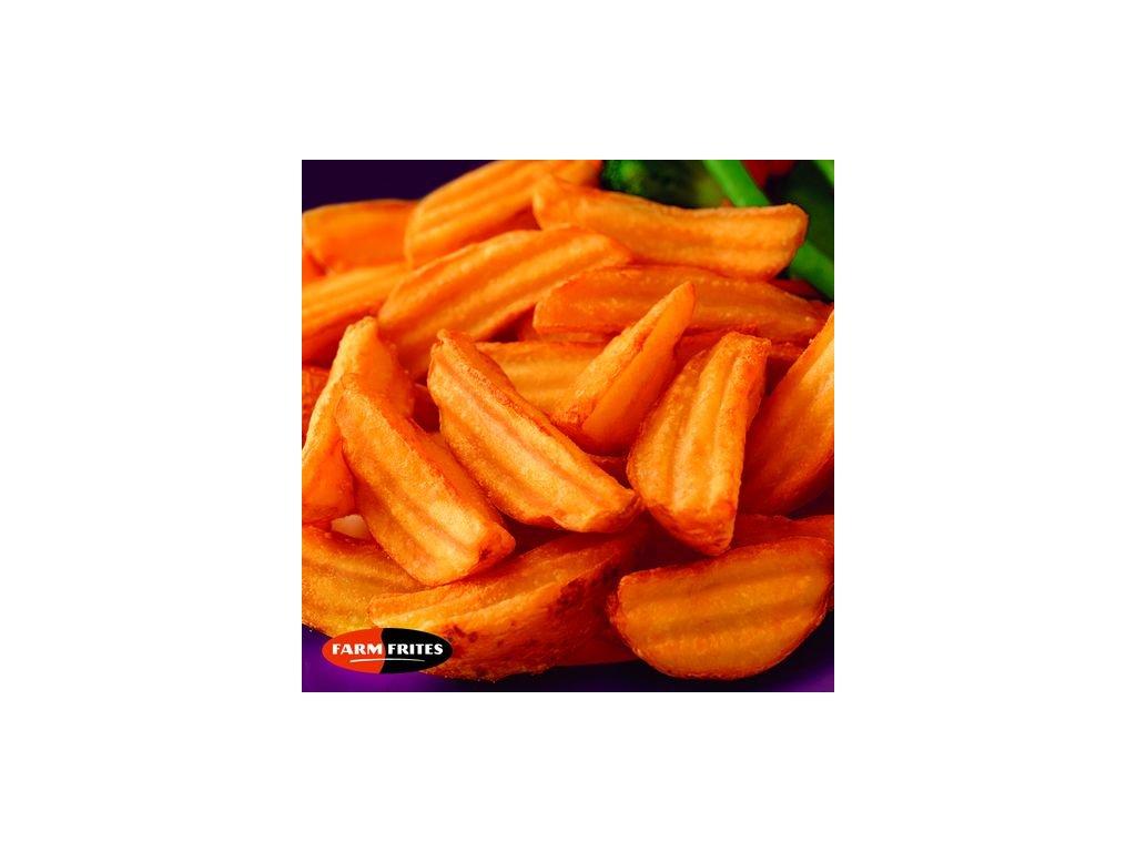 Farm Frites Crincle Wedges (vlnkované americké brambory) 2,5 kg
