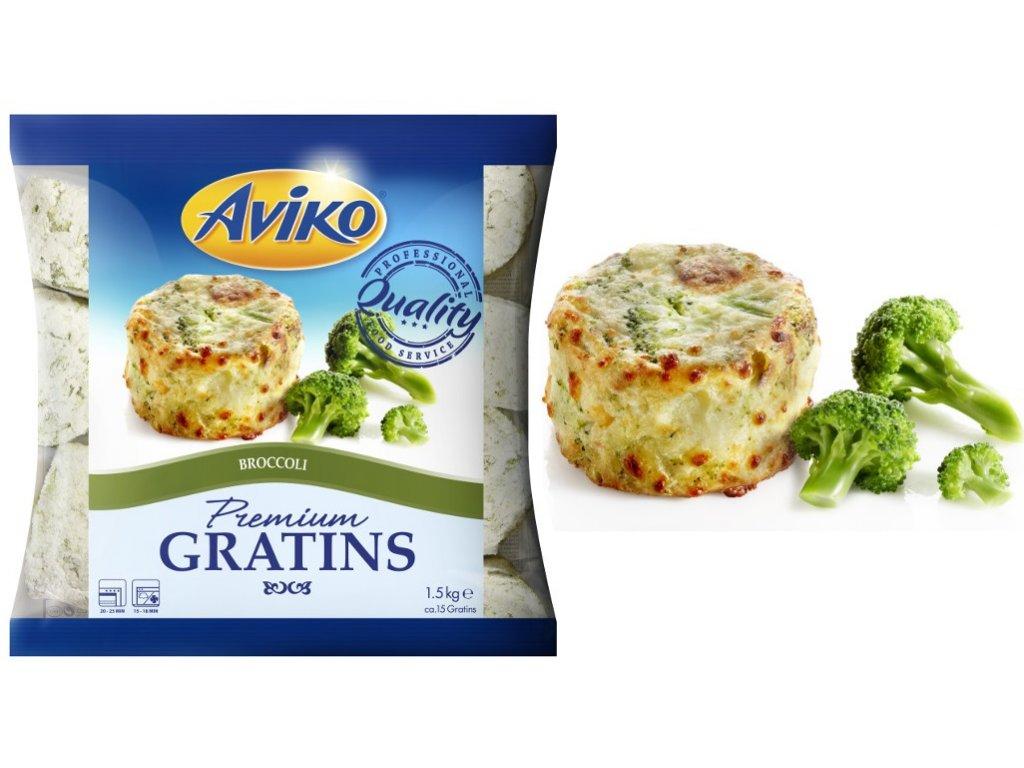 Aviko Gratins Broccoli (gratinované brambory s brokolicí) 1,5 kg
