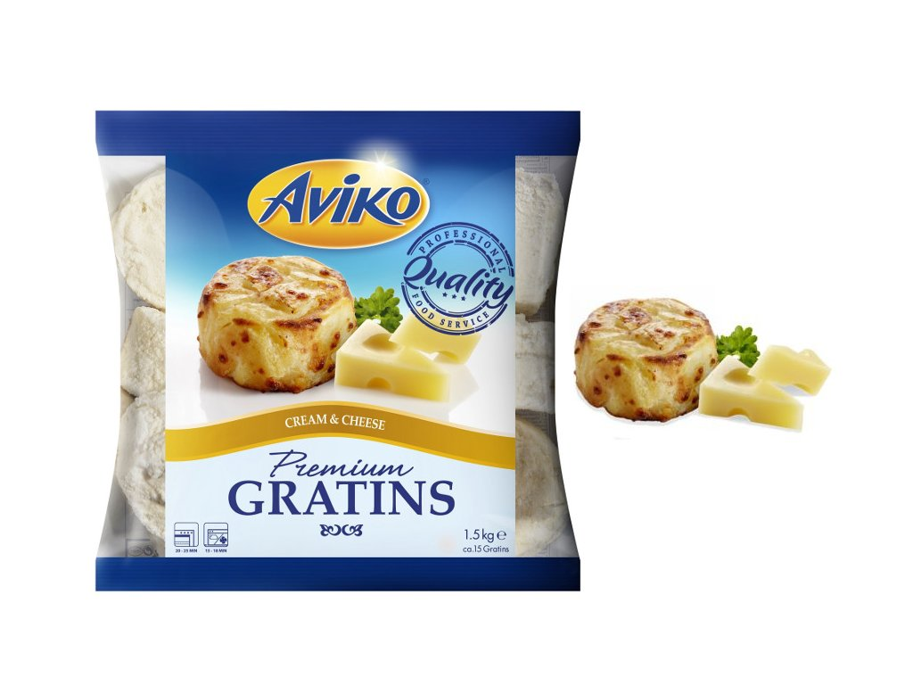 Aviko Gratins Cheese (gratinované brambory se sýrem) 1,5 kg