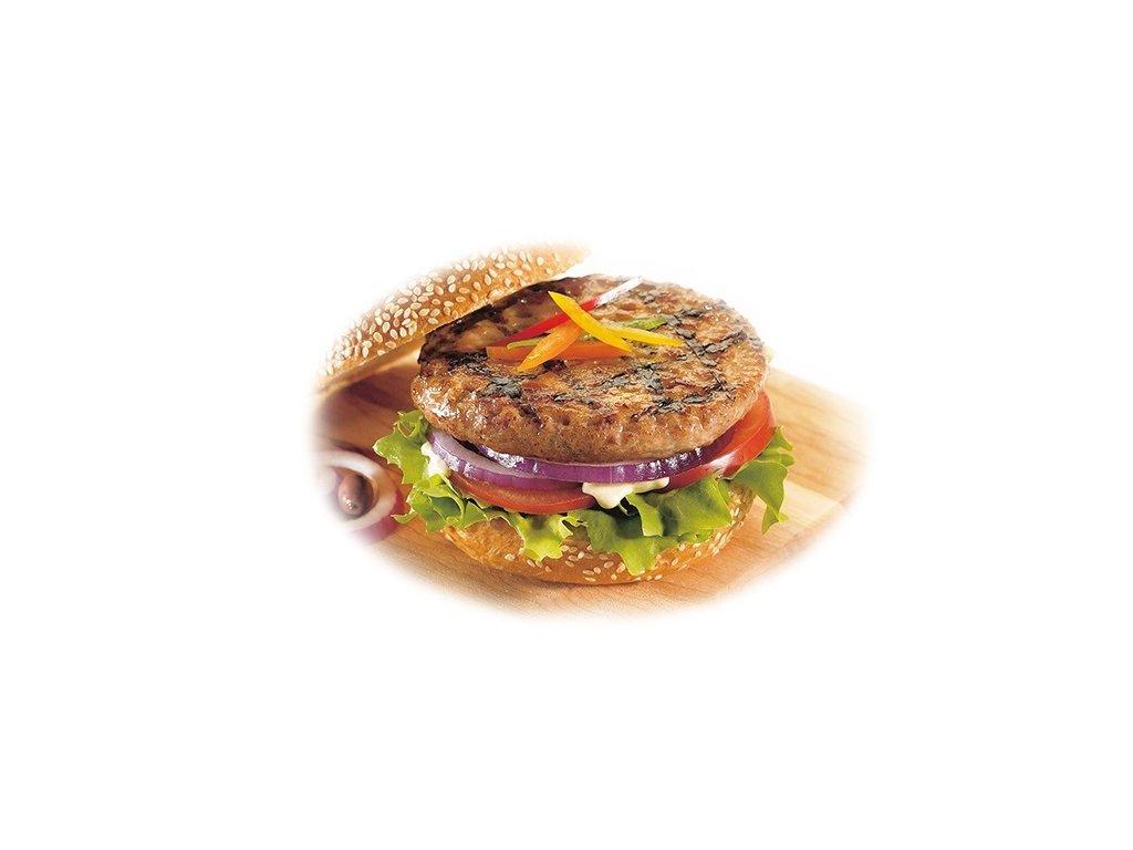 Hovězí hamburger ø 10 cm předsmažený 36 x cca 55 g