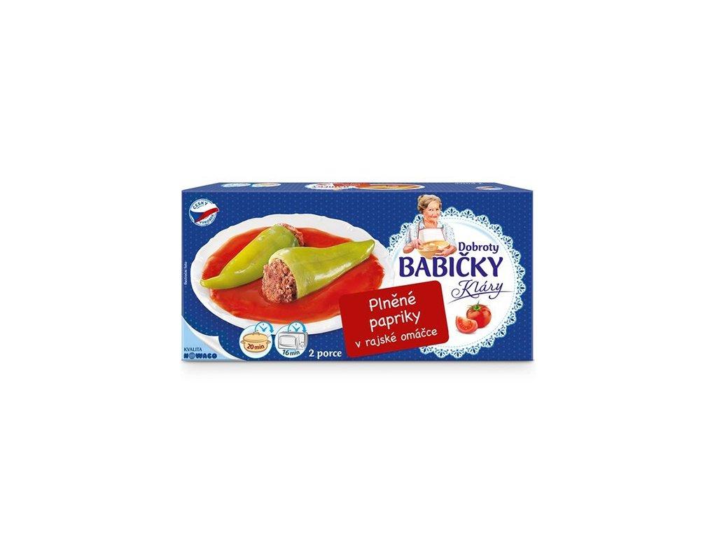 Plněné papriky v rajské omáčce Dobroty babičky Kláry  600 g