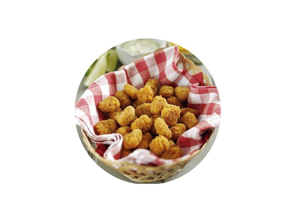 Kuřecí popcorn balení 2,5 kg.Cena 200 Kč kg