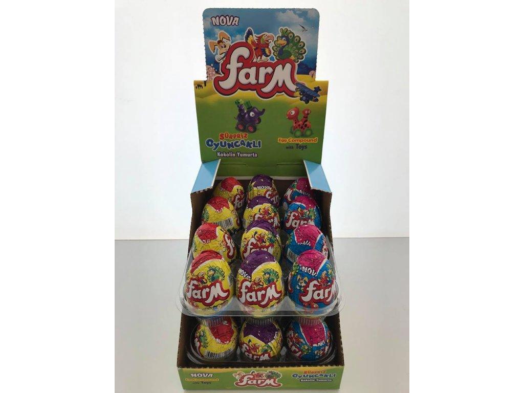 Čokoladova vajíčka s hračkou 25 g Farma
