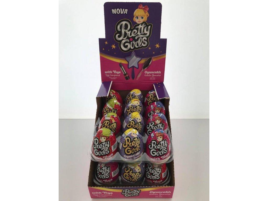 Čokoladova vajíčka s hračkou 25 g Pretty Girls