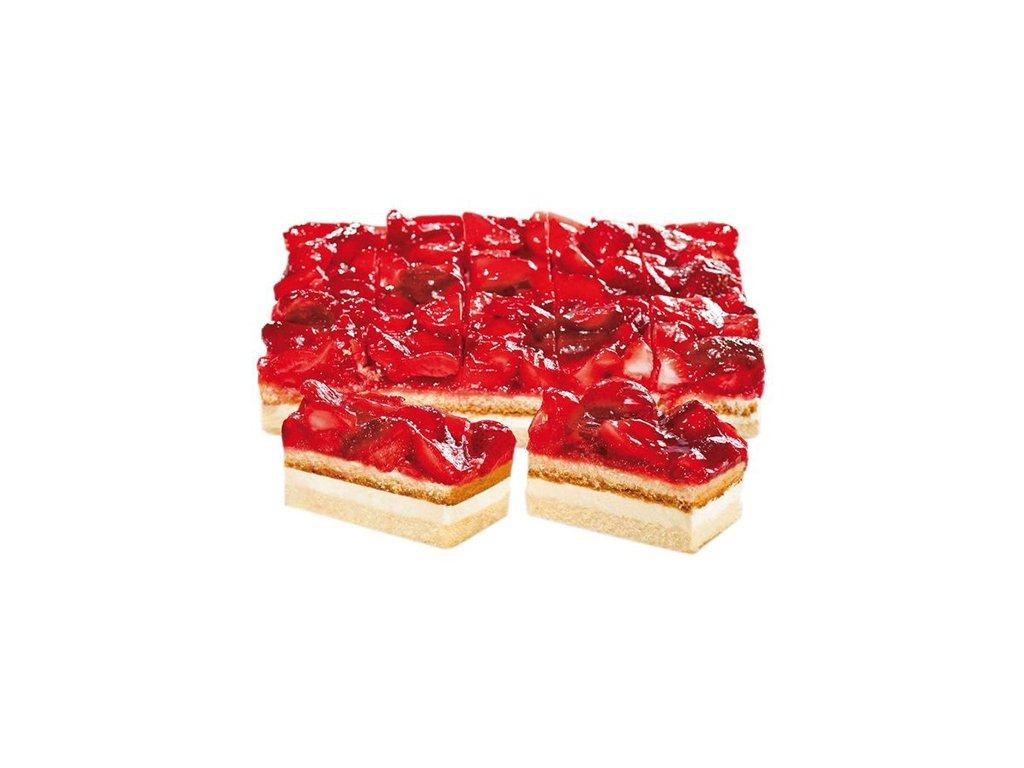 Jahodový smetanový dort řezy  2900 g