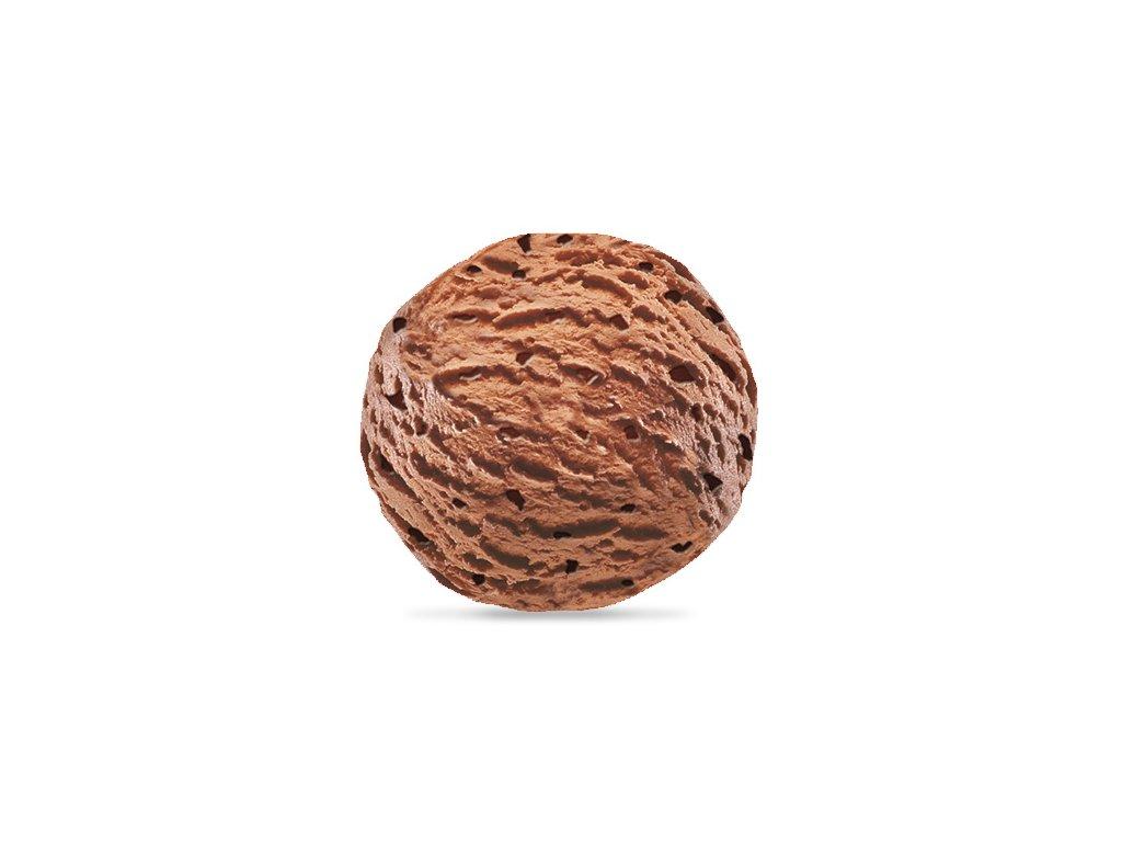 Čokoládová příchuť zmrzlina vana balení 4,5 l
