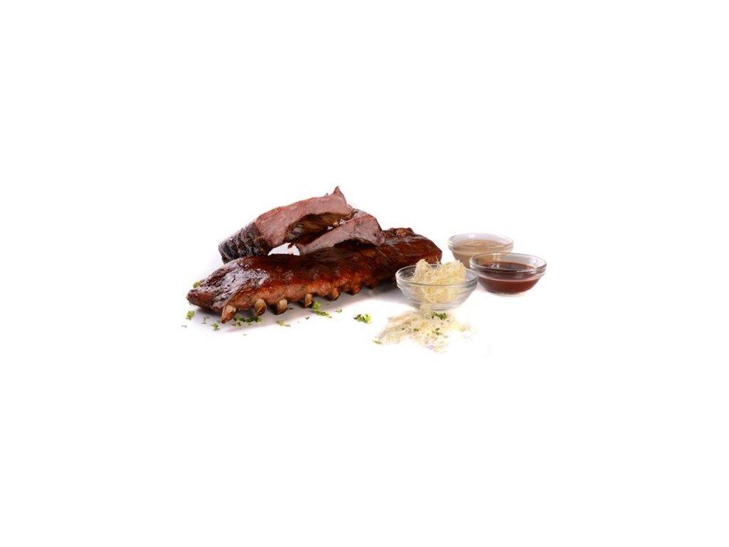 Vepřová žebra z pečeně masitá sous-vide Banquet 1 – 1,5 kg cena za kilogram.
