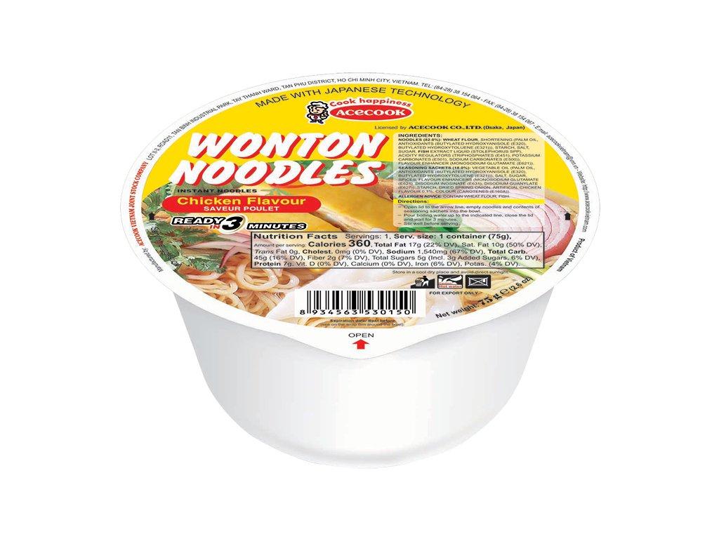 WONTON Instantní Nudle 75g Kuřecí