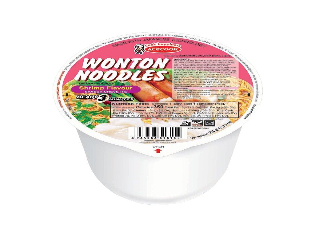 WONTON Instantní Nudle 75g Krevety