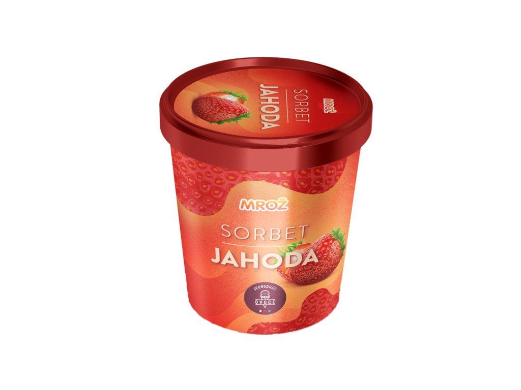 Mrož sorbet jahoda 460 ml