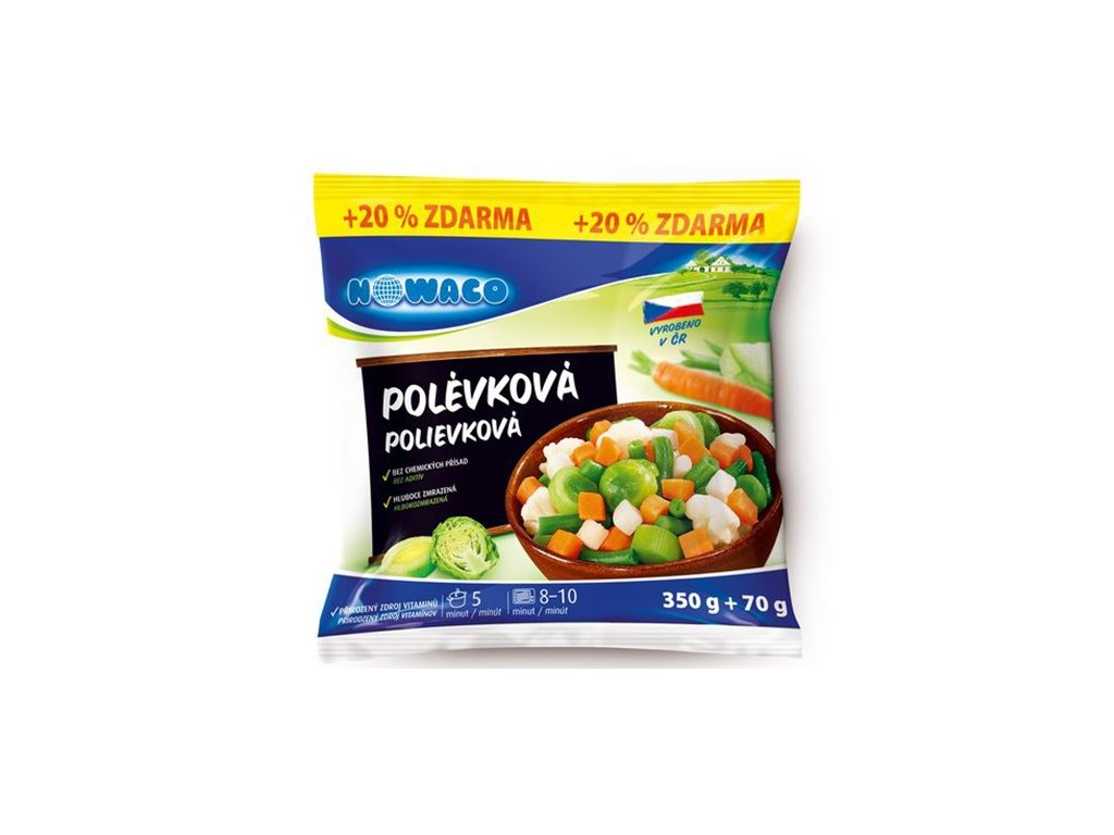 Polévková zeleninová směs Nowaco +20% zdarma  350+70 g