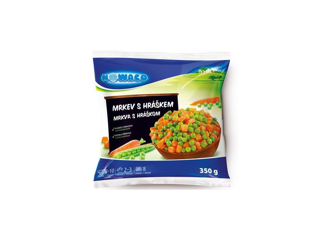 Mrkev s hráškem zeleninová směs Nowaco  350 g
