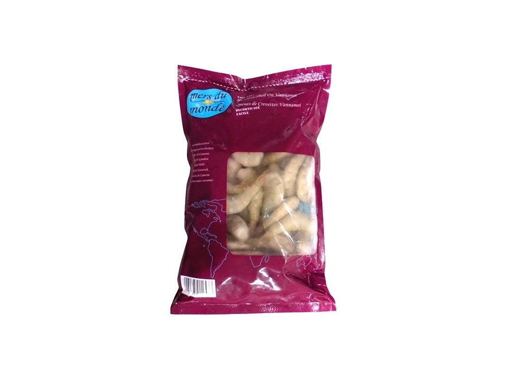 Krevety vannamei ocasy nevyloupané easypeel  800 g