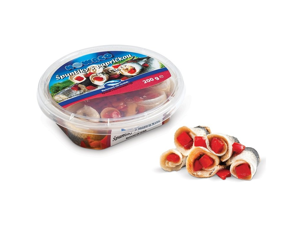 Špuntíky s papričkou Nowaco 200 g