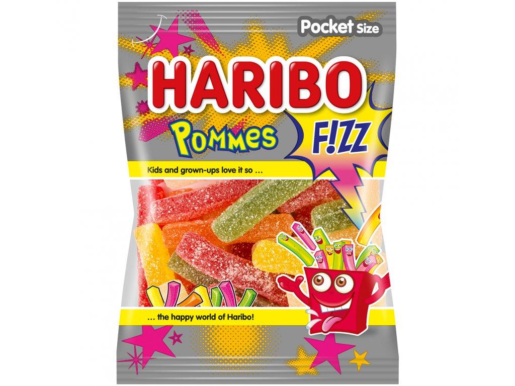 Haribo Pommes fizz želé s ovocnými příchutěmi 100g